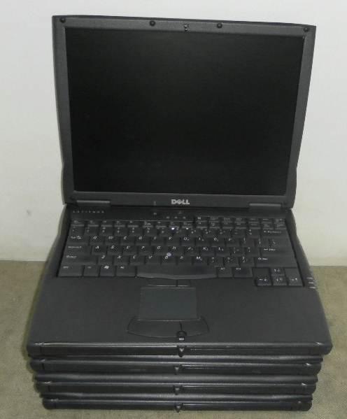 Lot of 4 Dell Latitude C600 Laptops Pentium III 750 MHz CD